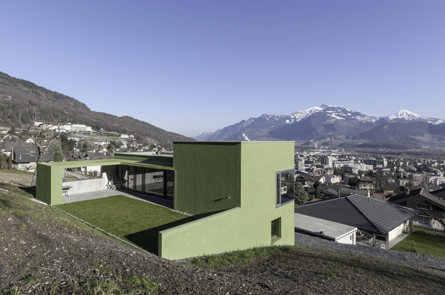 Maison catanese meyer architecture sion for Meyer architecture