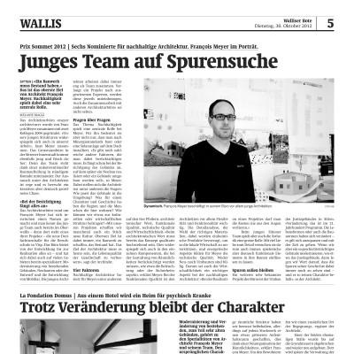 Inseratesatz-Walliserbote