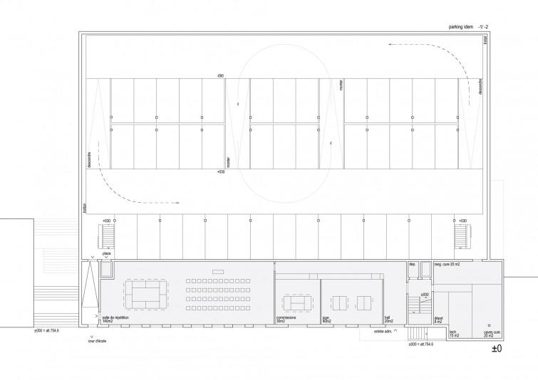 administration cure et parking meyer architecture sion. Black Bedroom Furniture Sets. Home Design Ideas