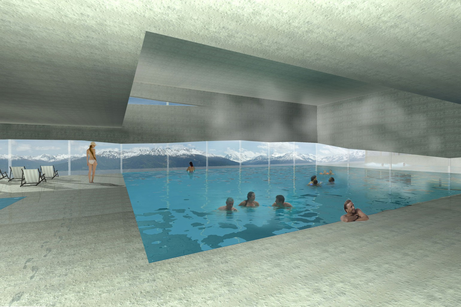 Piscine thermale meyer architecture sion for Piscine thermale