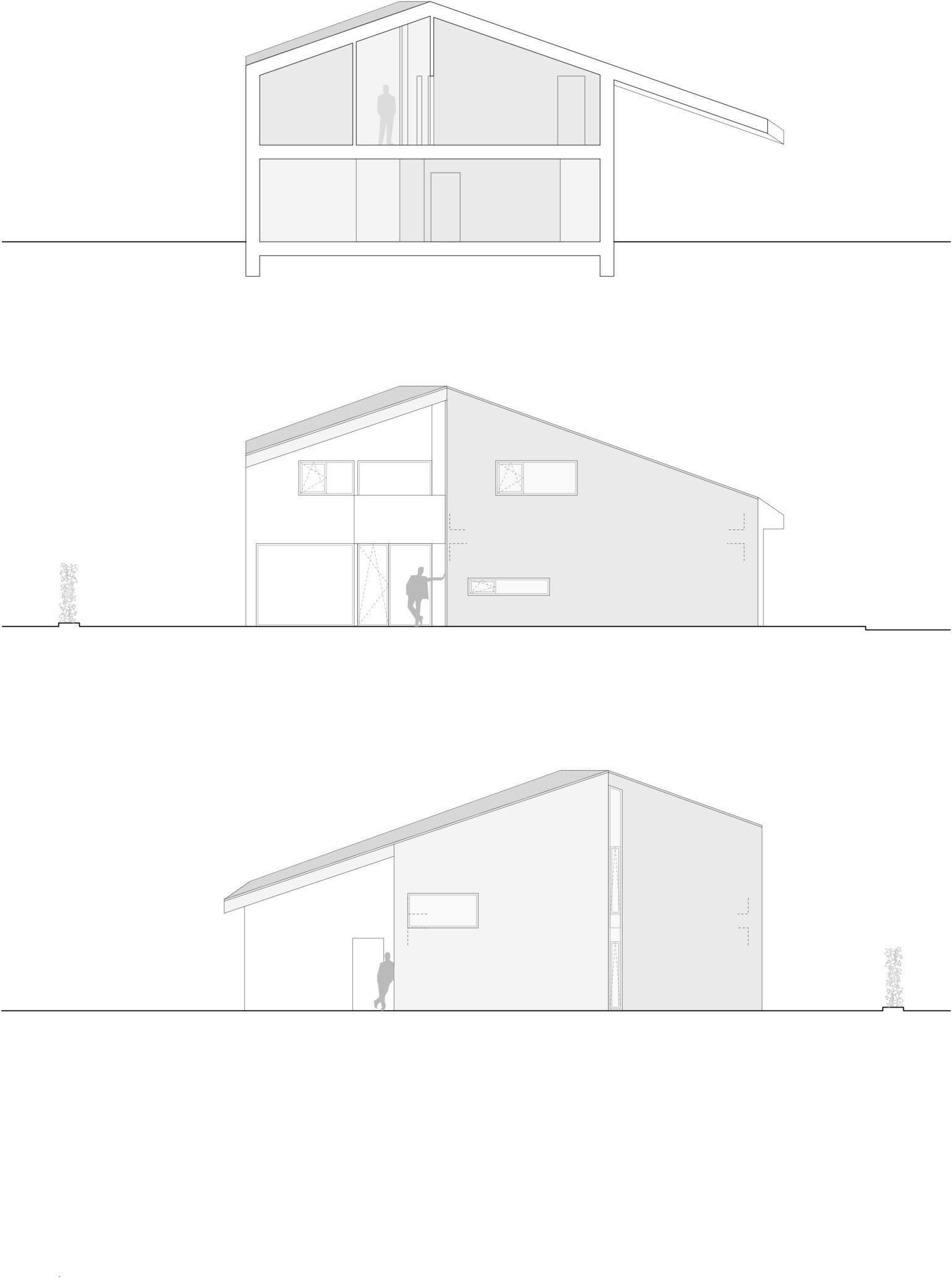1:100 coupes facades 1