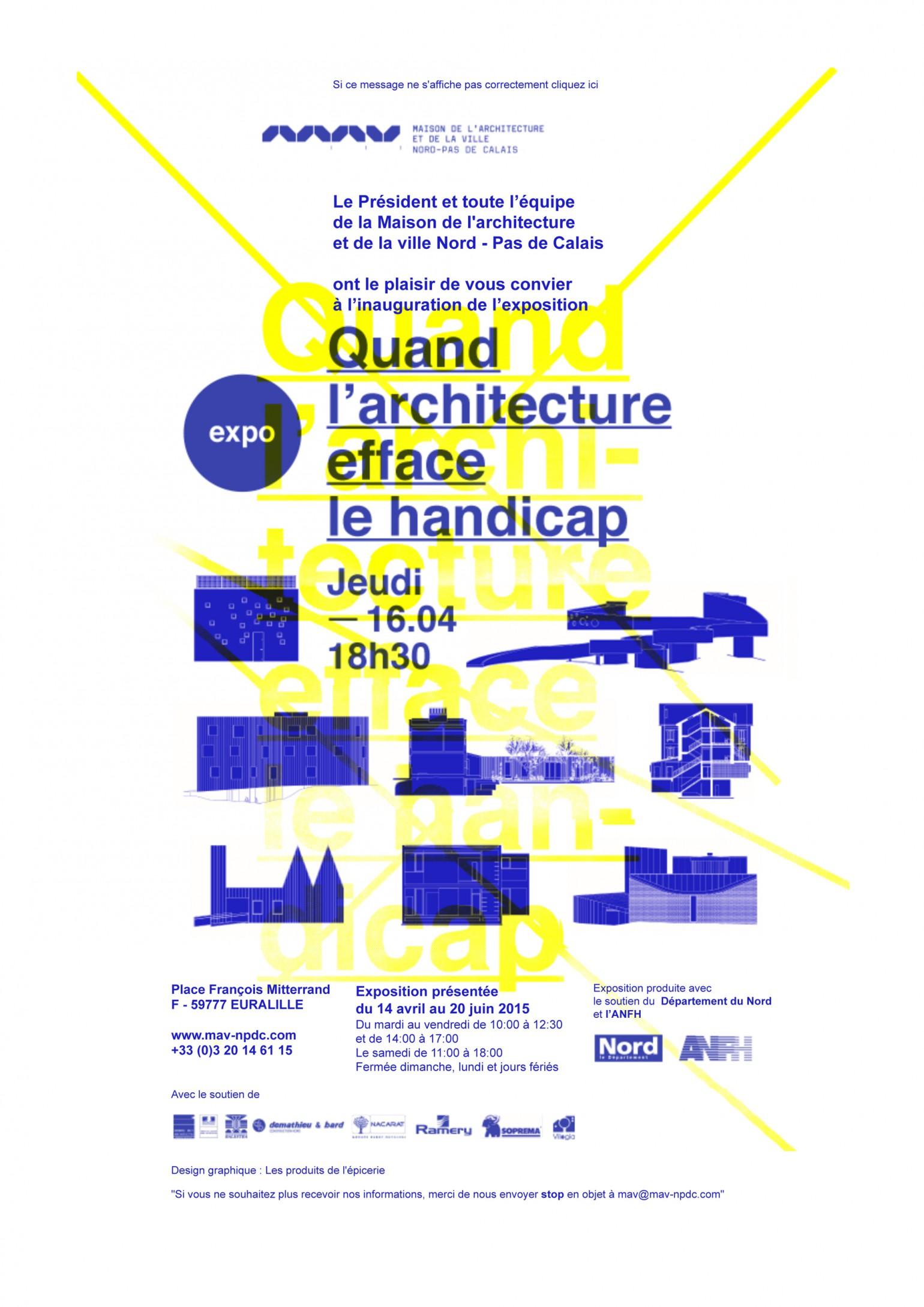 MA-NPDC / Expo : Quand l'architecture efface le handicap